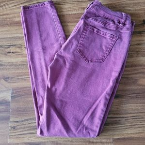 D. Jeans Cranberry Wine Colored Skinny Jeans